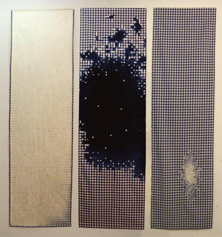 ddr fahne_blau (triptych)
